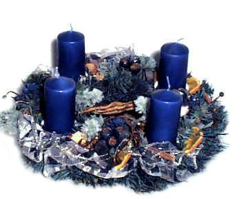 adventskranz blau 0502 005 eur 29 90 miroflor. Black Bedroom Furniture Sets. Home Design Ideas