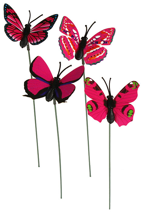 deko schmetterlinge papier fuchsia 4 cm eur 0 40 miroflor floristik geschenke bastelbedarf. Black Bedroom Furniture Sets. Home Design Ideas