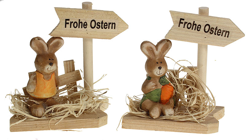 osterdeko aus holz frohe ostern eur 3 95 miroflor floristik geschenke bastelbedarf. Black Bedroom Furniture Sets. Home Design Ideas